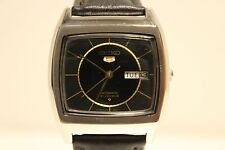 "VINTAGE MEN'S STAINLESS STEEL AUTOMATIC TV MODEL WATCH""SEIKO 5""21 J./6319-5021"