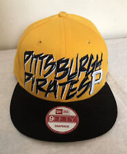 New Era 9fifty SnapBack Hat Pittsburg Pirates Funky Gold & Black Embroidered P