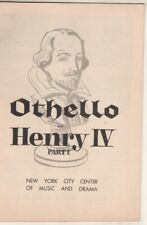 """Pernell Roberts """"Othello"""" Playbill 1955  City Center  Jerome Kilty.  Peggy Cass"""