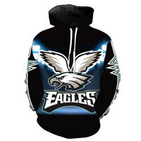 Philadelphia Eagles Hoodie Pullover Sweatshirts Coat Sweater Football Fans Gifts