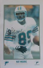 """Great Miami Dolphins Nat Moore Signed 8.5 x 5.5"""" Autographed Photograph"""