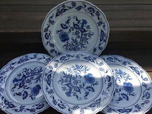 "VINTAGE BLUE DANUBE DINNER PLATES SET OF 4 BLUE ONION 10.5"" DINNER PLATES JAPAN"