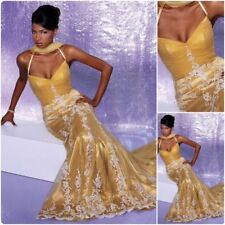 GOLD MERMAID LACE 6 Precious Formals Bridal Prom Dress Pageant Gown $600 #20249