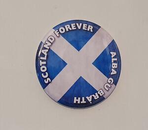 Scotland Forever, Alba gu Brath! - Fridge Magnet - 58mm diam