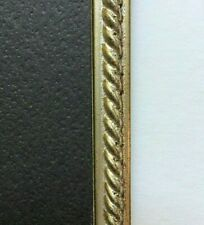 """Custom cut 1/4"""" w Silver w/ Rope Design Fillet Wood Trim for Mat, Picture Frame"""