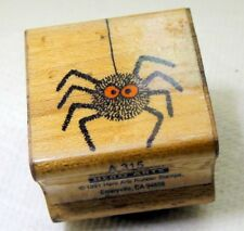 Rubber Stamp detailed 3X3 cm Spider by  Hero Arts B315 Scary Spider