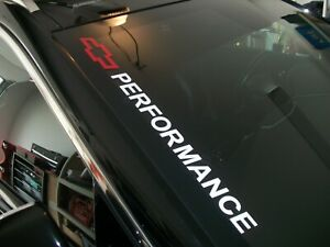 BOWTIE Chevrolet PERFORMANCE  Windshield Decal Tahoe Suburban SS Trax
