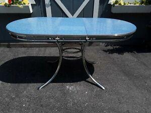 DOUGLAS KITCHEN MASTER Vintage Retro 1950's Formica & Chrome Kitchen Table MCM