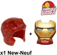 Lego 1x Minifig headgear casque Iron Man + visière or yeux bleu 10908pb12 NEUF