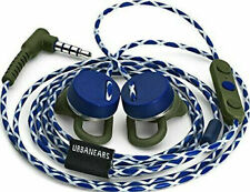 New UrbanEars Reimers Trail Phone Blue White earbuds ear buds Apple Android