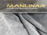 "Soft Grey Velvet Removalable Weighted Blanket Cover/Deuvet 60""X 80""/Zipper /New"