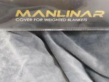 "Soft Grey Velvet Removable Weighted Blanket Cover/ Deuvet 48""X 72""/Zipper /New"