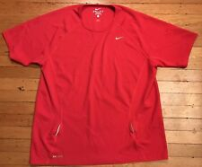 911aa635c98d Nike Dri Fit Nike+ Plus Athletic Running Jersey T Shirt Red - Mens Large