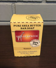 Out Of Africa Pure Shea Butter Bar Soap VANILLA 4oz- NEW IN BOX- EXP: 09/2018