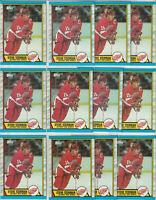 Steve Yzerman Detroit Red Wings 1989-90 Topps Hockey 15 Card Lot