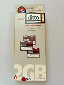Iomega Ditto 2GB 3-pack cartridges, formatted for Mac, use with Ditto 2GB drive