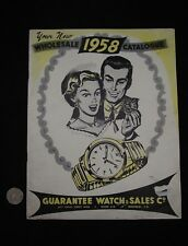 WHOLESALE 1958 GIFTWARE CATALOGUE GUARANTEE WATCH & SALES CO MONTREAL