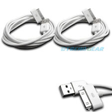 2X 10FT USB TO 30 PIN WHITE CABLE DATA SYNC CHARGER SAMSUNG GALAXY TAB TABLET 7""