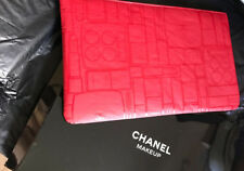 CHANEL MAKEUP POUCH COSMETIC BAG TRAVEL WALLET RED BNIB CHRISTMAS GIFT