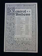 Antique Sheet Music- Search me, O God, G. Shirmer's Octavo Church Music, 1908