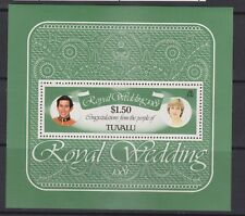 1981 Royal Wedding Charles & Diana MNH Stamp Sheet Tuvalu SG MS 174