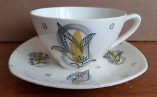 MIDWINTER Tea Cup & Saucer CAPRI by Jessie Tait 1955