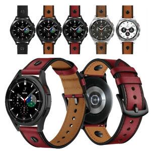 Punk Niet Echtes Leder Armband Band für Samsung Galaxy Watch 4 Classic 42mm 46mm