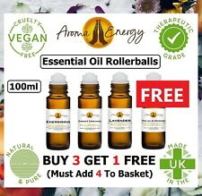 Essential Oil Rollerball Pulse Point Roll On Aromatherapy Essential Oils 100ml