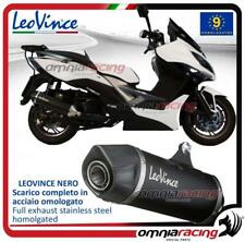 Leovince Nero Full system slip-on exhaust steel Kymco Xciting 400 i 2012>2016