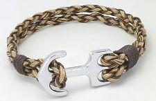 Inspirational Unisex Nautical Anchor Brown Leather Fashion Bracelet Wristband