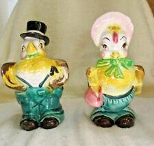 Vintage Set 2 NAPCO Anthropomorphic Planters Mr and Mrs Chicken