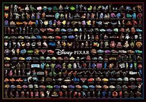 1000 pieces jigsaw puzzle Disney/Pixar character large set (51x73.5cm)