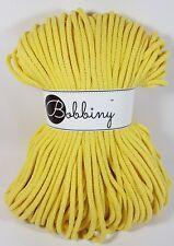Bobbiny `Kordel/Seil/Rope Zitrone Ton 100m` Neu Stricken,Häkeln,Macrame,Paracord