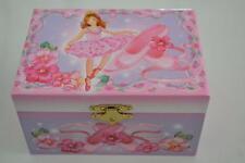 Girls Pink Ballerina Jewellery Music Musical Box Ideal Flower Girl Gift unwanted