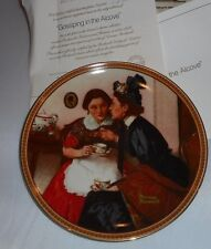 1983 Gossiping in Alcove 6th Rediscovered Women Norman Rockwell Collector Plate