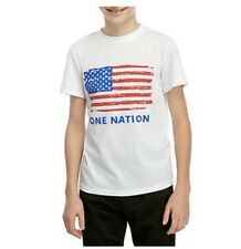 Nwt Boys 8-20 One Nation Flag Americana Graphic T-shirt 4th of July Usa
