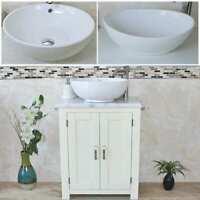 Bathroom Vanity Unit   White Bathroom Slimline Cabinet   White Marble Worktop