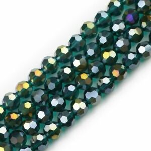 10mm 20 Pcs Faceted Crystal Loose Beads Ball Rhinestone Bracelets Jewelry Making
