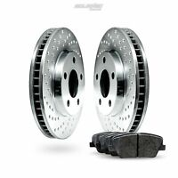 Front Drilled Brake Rotors Disc and Ceramic Pads For Express 2500,Savana 2500