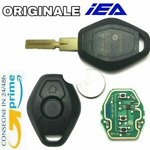 🇮🇹Chiave ORIGINALE IEA COMPATIBILE BMW + CHIP BATTERIA LAMA 3 TASTI LOGO