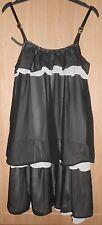 Chan Chan Black & Cream Layered Chiffon Strappy Dress size Small