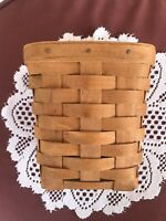 "Vintage Longaberger 1987 Small Tall Square Basket 6 1/2""x 5"""