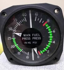 Cessna United Instruments Manifold and Fuel Pressure Gauge C662038-0105, 6313