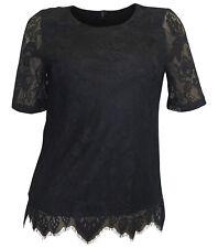 VERO MODA Spitzenshirt Gr. S 36 schwarz Spitze Shirt Abendshirt Event