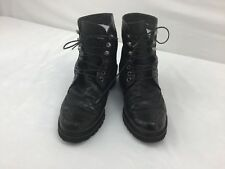 Stuart Weitzman Brogen Leather/velvet Hiker Boots Size 8.5M  F6816/