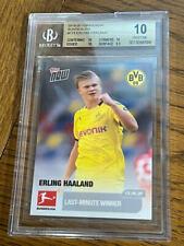New listing 2019 Topps Now Bundesliga Erling Haaland Borussia Dortmund #173 BGS 10 PRISTINE