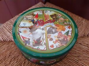 Rien Poortvliet David Gnome Tin Can Four Seasons Gnome Cookies Used Cookie Jar