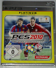PS3 PLAYSTATION 3 PES 2010 PLATINUM NEU OVP PRO EVOLUTION SOCCER FUSSBALL SPIEL