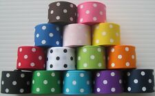 """7/8"""" Grosgrain Ribbon~polka dots~Lot of 15 yards~ one yard of each color"""