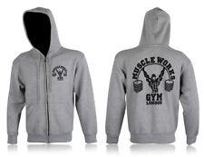 Sweats, polaires et hoodies de fitness grises pour homme